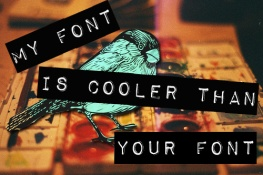 fonts 1 - my font is cooler