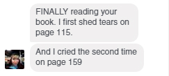 reading updates from a friend, aka Tears, vol. 4